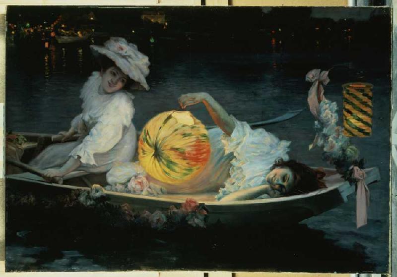 Titulo de la imágen Ulpiano Checa y Sanz - Celebrando el verano con una linterna china