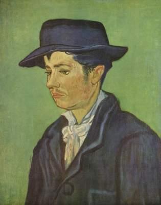 Armand Roulin - Vincent van Gogh en reproducción impresa o copia al óleo sobre lienzo.
