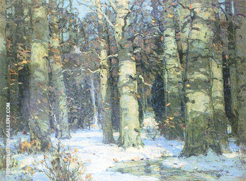Order photo wallpaper tree, forest and northern hardwood forest for wall from biggest catalog for the best price in europe. Winter In The Forest Painting By John F Carlson Reproduction Gallery
