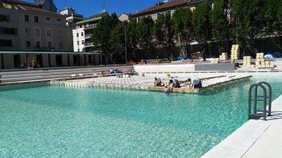 Milano la piscina Caimi rinasce con una grande festa tra un mese linaugurazione  Repubblicait