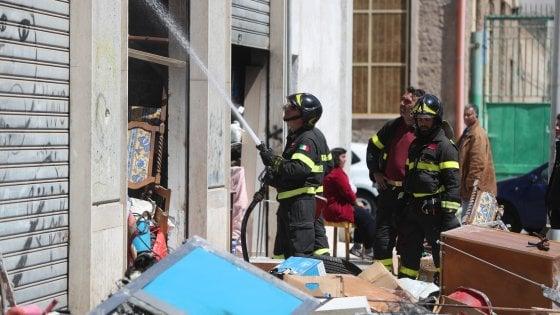 Palermo incendio nello stabile occupato di via Brigata