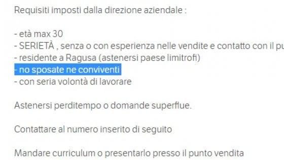 Cercasi Commesse Single A Ragusa Lannuncio Shock