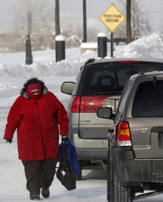 Frio em os EUA, -53 graus em Montana