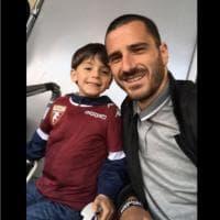 Bonucci porta il figlio allo stadio a vedere il Torino