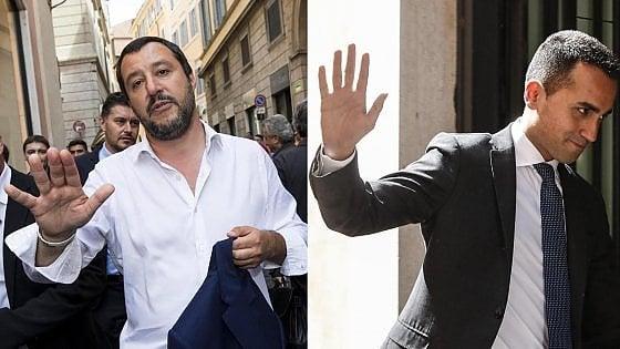 M5S-Lega, il premier ai Cinquestelle. Alla Camera vertice Salvini Di Maio