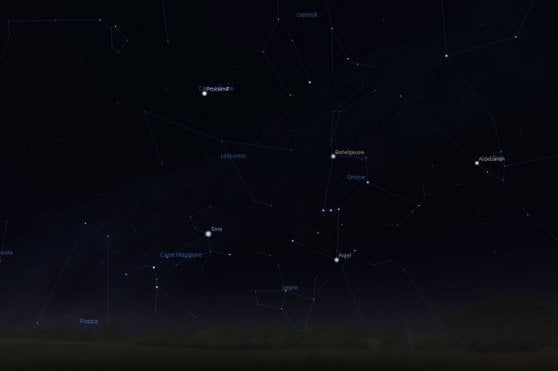 Arrival meteor shower: the show at dawn