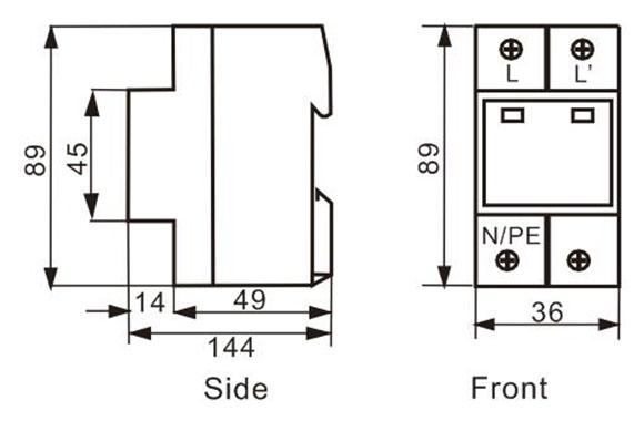 IEC/EN 61643 Lightning Surge SPD REP-MP40T2