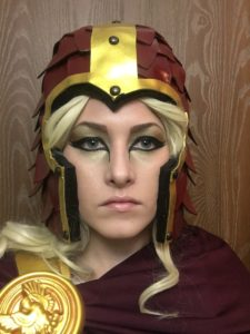 fire dragon slayer costume makeup