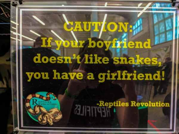 Caution: If your boyfriend doesn't like snakes, you have a girlfriend!