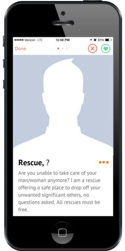 reptile rescue tinder ad