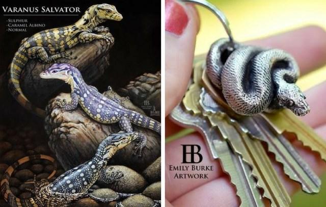 Christmas 2017 reptile gifts — Emily Burke reptile artwork