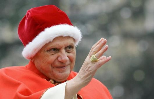 Pope Benedict XVI with ermine camauro