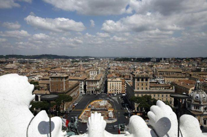 Panorama mozzafiato dalle terrazze del Vittoriano  Galleria  Repubblicait