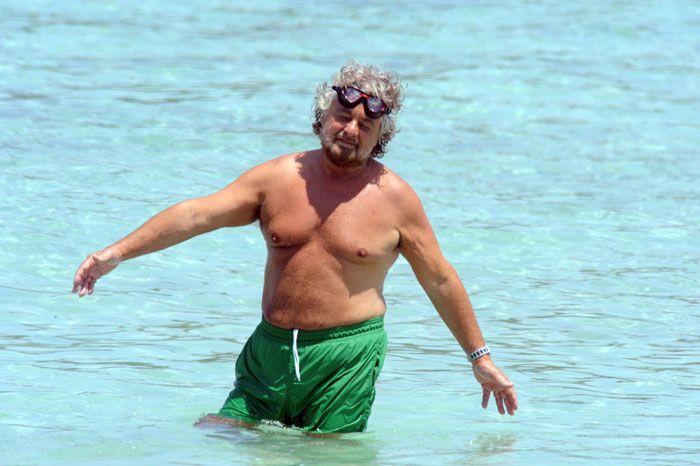 Beppe Grillo a Porto Cervo il 30 Giugno