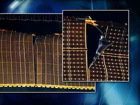Paneli solar i dëmtuar