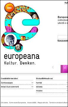 Online Europeana, la Babele Ue Una biblioteca da 2 milioni di libri