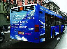 Spot sull'ateismo, anche a Genova i bus che promuovono l'inesistenza di dio