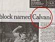 LA FOTOGRAFIA  L'errore dell'Herald Tribune Cavani diventa Calvani