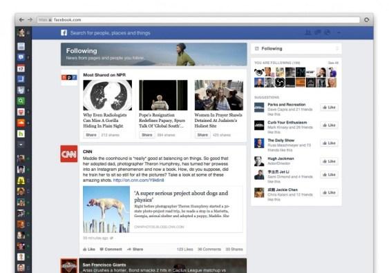 Facebook, ecco il nuovo look