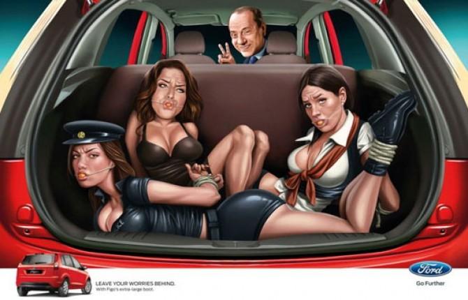 Berlusconi con donne nel bagagliaio, Ford Italia si dissocia