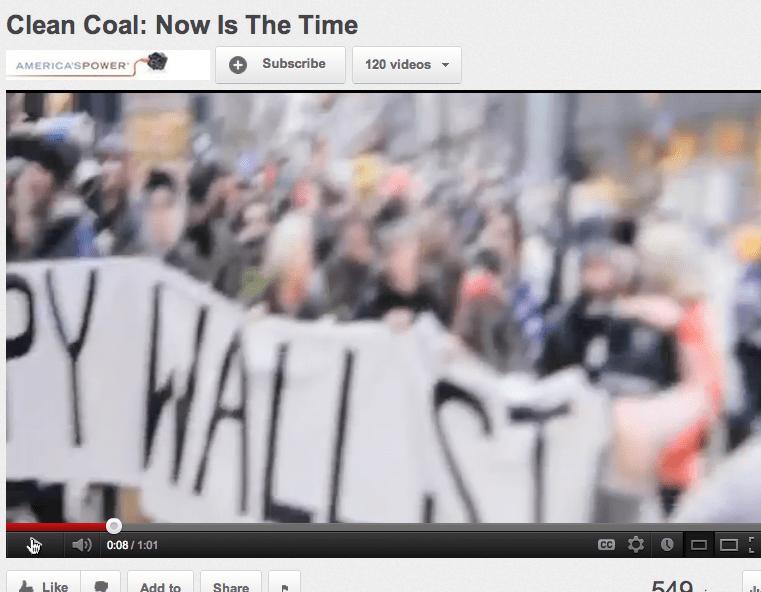 Coal Lobbying Group Airs New Ad Mocking Occupy Wall Street
