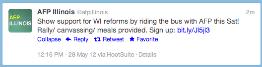 On Twitter, Koch Group Offers Illinois Residents Free Food, Trips To Wisconsin To Support Governor Scott Walker