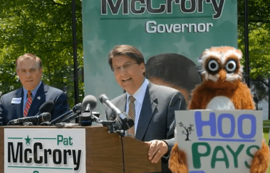 Who Has Been Paying GOP Gubernatorial Candidate Pat McCrory? It's Anybody's Guess!