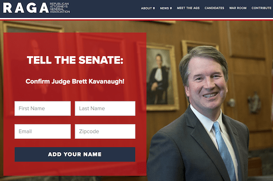 Republican Attorneys General Use Corporate Cash To Lobby for Kavanaugh