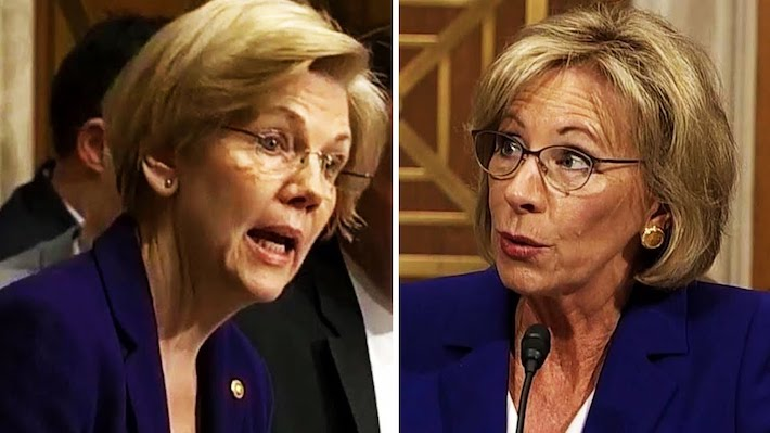 Warren Says COVID Act Denies Aid to For-Profit Colleges. DeVos: Nah.