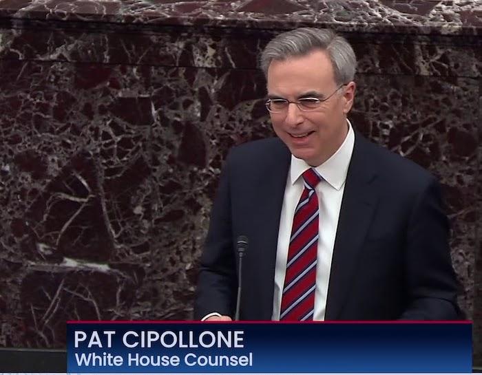 Will Trump Pardon the Capitol Terrorists? I'm Asking Pat Cipollone