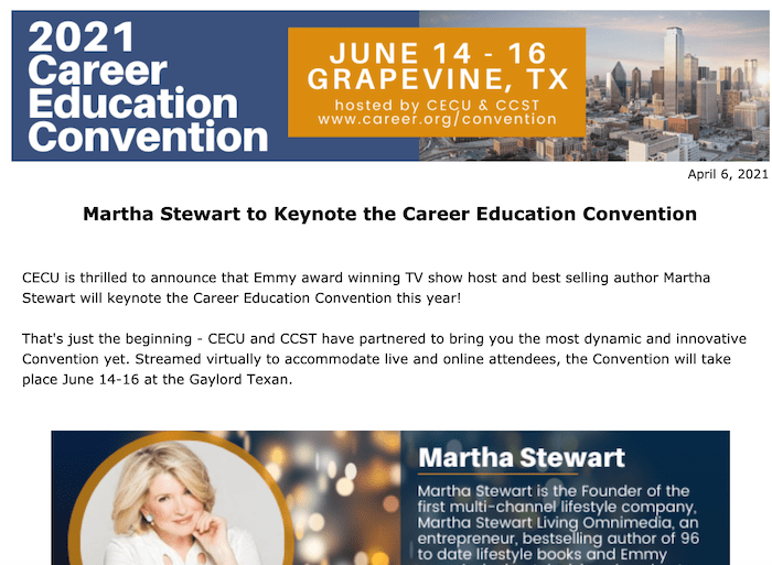 Convicted Felon Martha Stewart to Keynote Convention Involving Predatory For-Profit Colleges