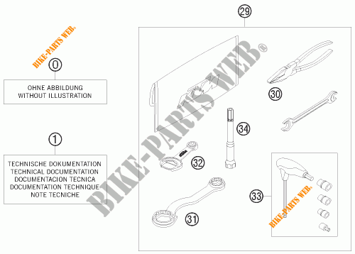 HERRAMIENTAS / MANUAL / OPCIONES para KTM 450 SX ATV 2009