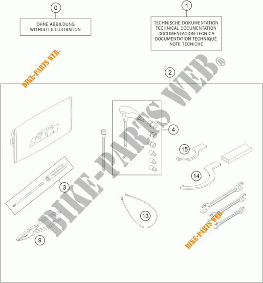 HERRAMIENTAS / MANUAL / OPCIONES para KTM 1290 SUPER DUKE