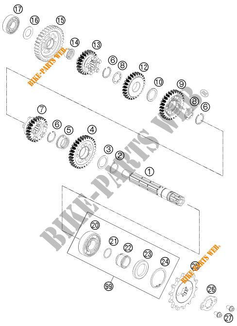 125 DUKE ORANGE ABS BAJDIR 2014 EU F4003N6 2014 EU F4003N6