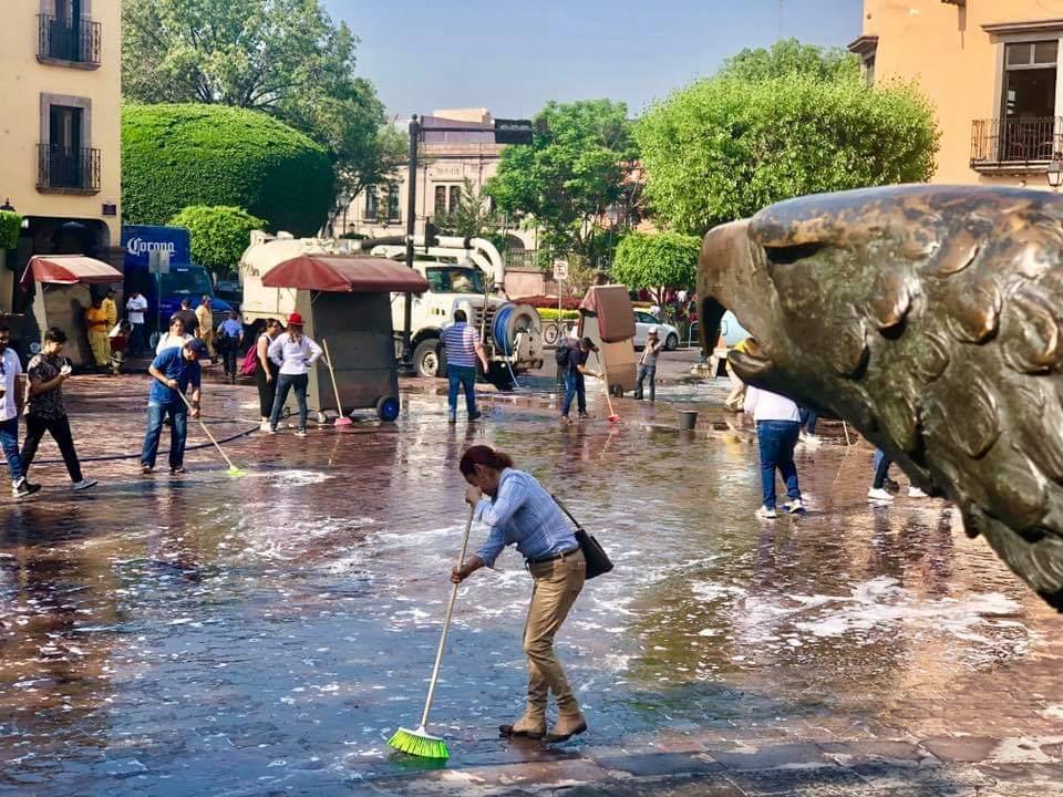 Anuncian jornada de limpieza y desinfección para el Centro Histórico de  Querétaro | Reqronexion - Información de verdad.