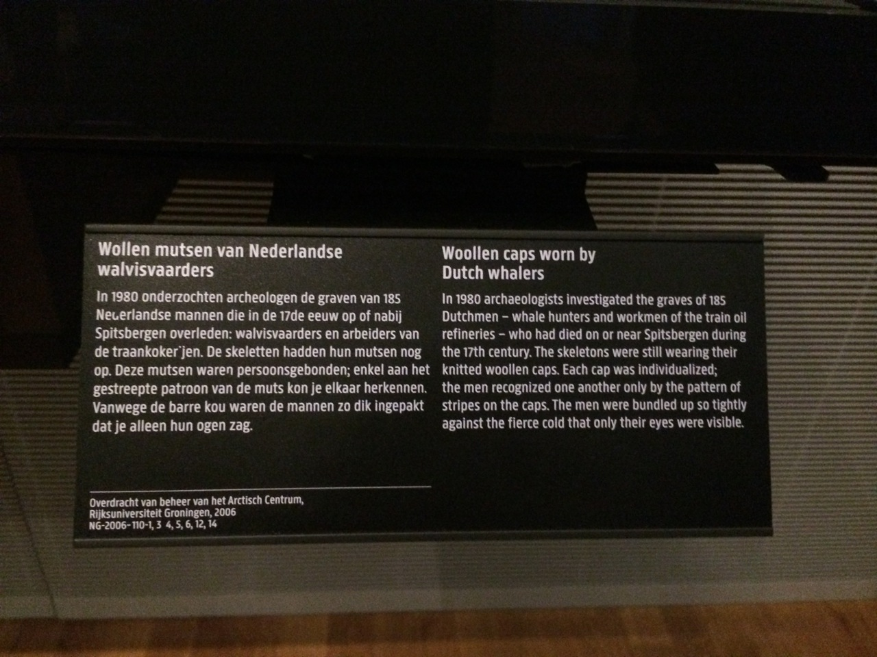 Object label at the Rijksmuseum Amsterdam