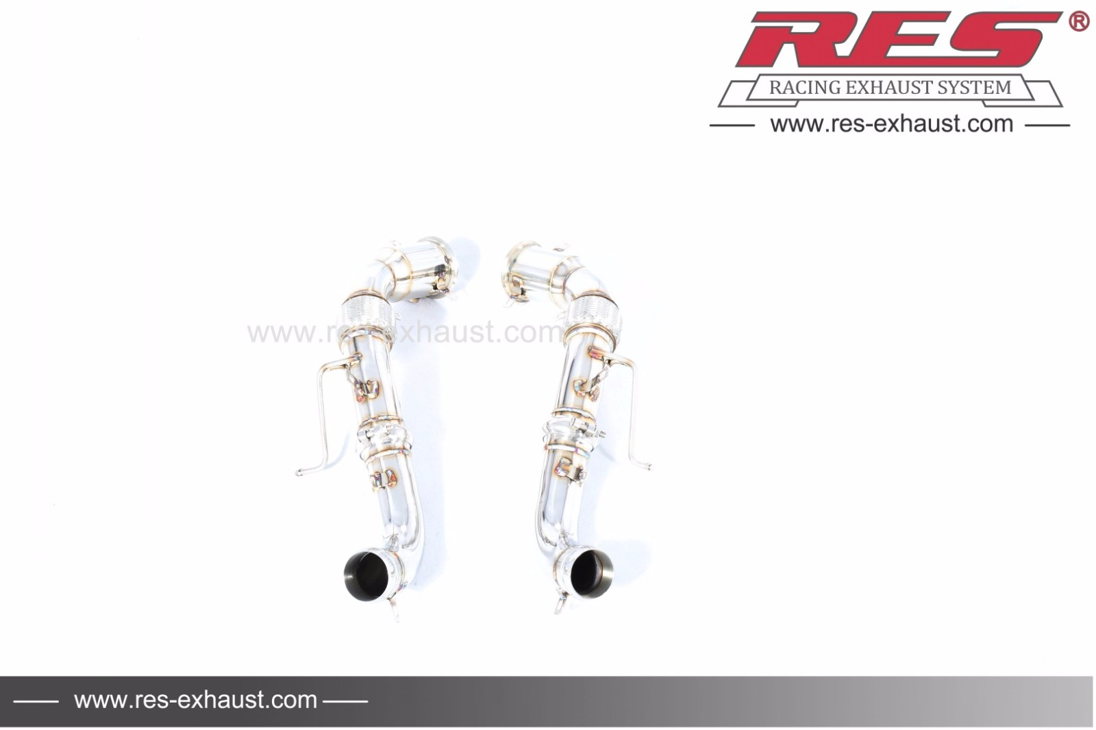 All Ss304 Decat Catless Downpipe Res Exhaust High