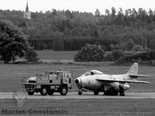 Saab J-29 Tunnan - Gul Rudolf la AFS 2012