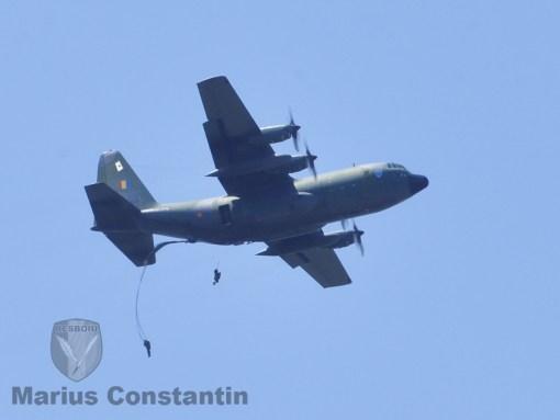 Batalionul 630 Parasutisti Smaranda Braescu desant la Baza 95 Aeriana