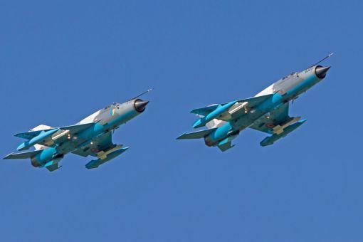 Celula de avioane MiG-21 LanceR C in zbor