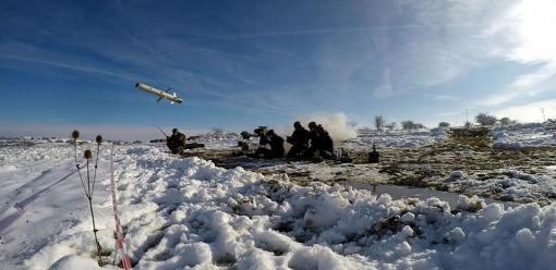 Spike LR testat in poligonul Cincu - foto Sergent Nicusor Comanescu