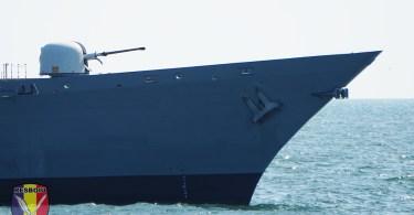 Tun Oto Melara calibru 76 mm - Fregata Regele Ferdinand