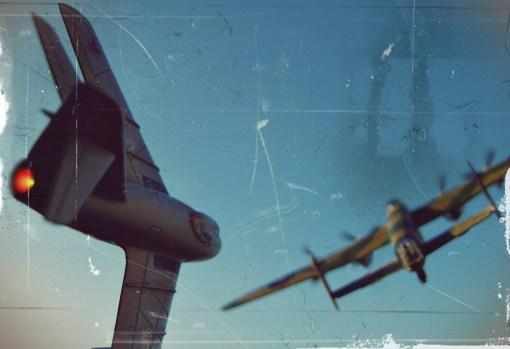 Avro Lincoln doborât de MiG-15