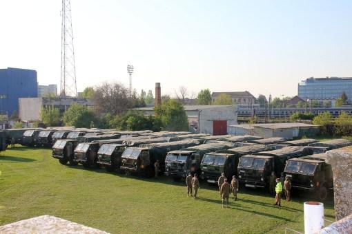Pregătiri pentru instalarea și operaționalizarea unui Sistem Modular Medical de Izolare și Tratament (SMMIT) la Timișoara - foto MApN