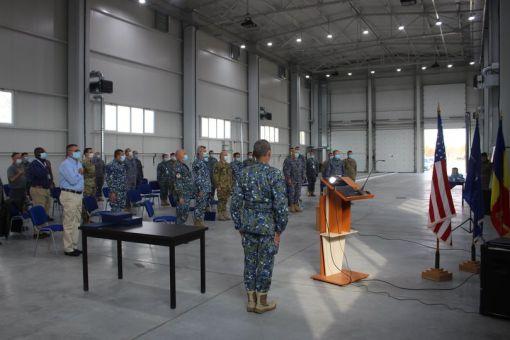 Ceremonia prilejuită de finalizarea testelor de acceptanță și recepția finală a primului sistem de rachete sol-aer cu bătaie mare PATRIOT din dotarea Forțelor Aeriene Române