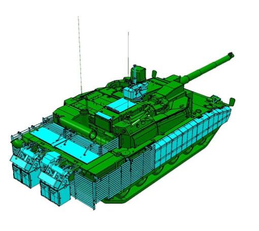 Tanc Leclerc cu kit de protectie suplimentara Azur