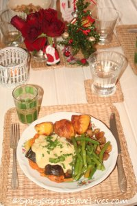 Fabulous vegan Christmas feast in the home of a friend