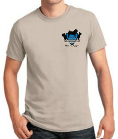 tan PPSNR tee shirt front