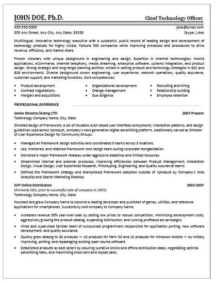 EXAMPLES RescueResumes Professional Resume Writing Services