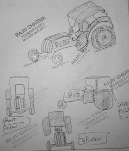Design of modern luxurious Tractor